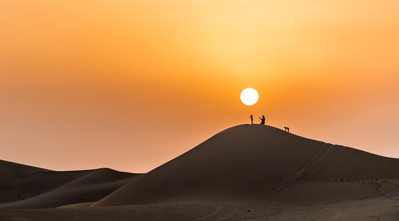Scaling the Dunes - Desert AlAin Road