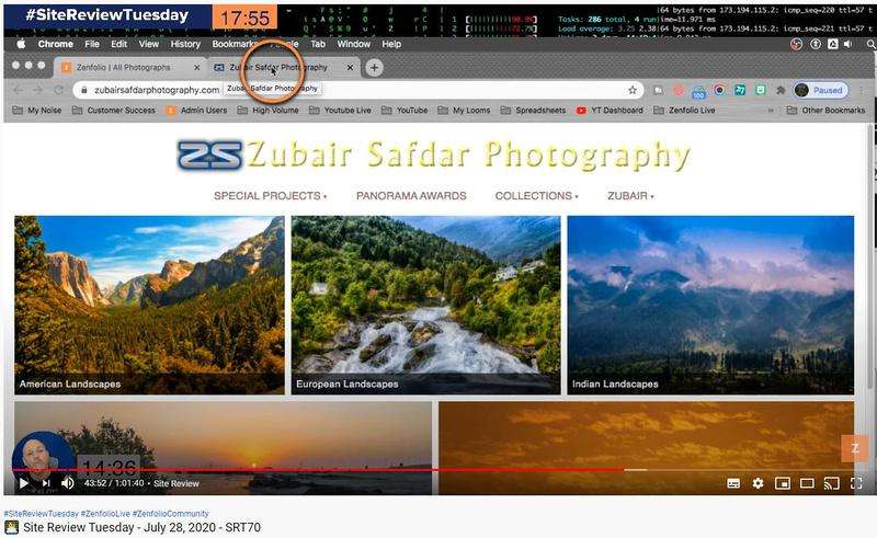 Zubair-Zenfolio Site Review-28Jul20