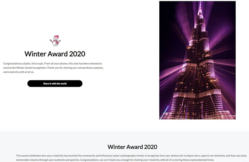 Viewbug Winter Award 2020