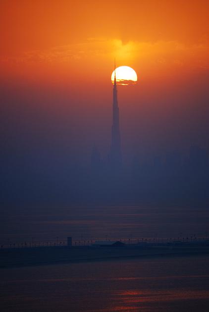 Sunrise over Burj Khalifa - Worlds tallest building